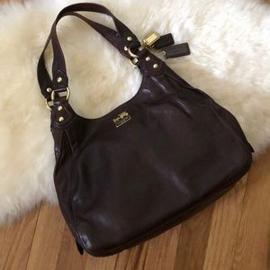 Coach Madison Maggie - #14336 brown leather hobo